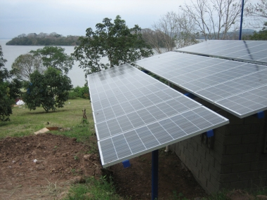 Solar panels in Nicaragua. Photo by Max L. Lacayo. From Wikimedia Commons.
