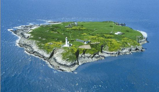 Flat Holm, in Wales, has a microgrid with three solar arrays, a wind turbine, and two battery systems.