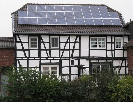 Components in a microgrid could include solar panels on a medieval building.
