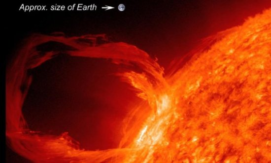 Solar storms can be huge.