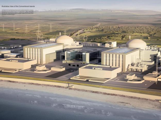 Power and the glory? An artist's impression of Hinkley Point C, which it is envisaged will start generating in 2026 and account for 7 per cent of British consumption PA