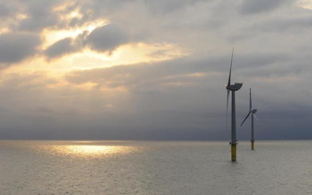 Adwen turbines at Alpha Ventus wind farm in the German North Sea. Copyright: Adwen GmbH / J. Oelker.