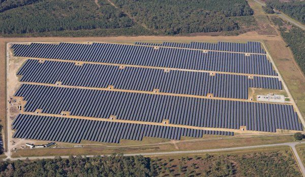 Solar farm construction in North Carolina. Duke Energy photo