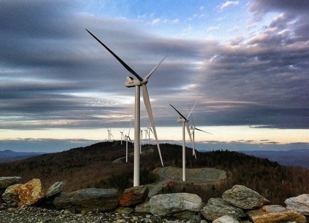 Kingdom Community Wind. Green Mountain Power photo.
