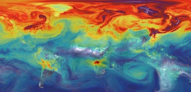 NASA is studying greenhouse gas emissions. NASA/GSFC image.