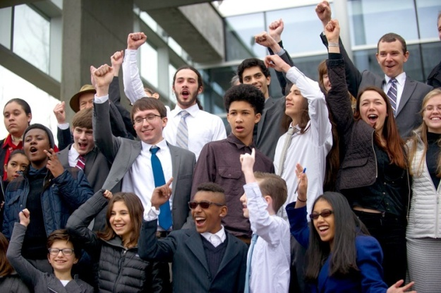 The youth plaintiffs after the hearing on March 9 in Eugene, Oregon. Photo credit: Our Children's Trust