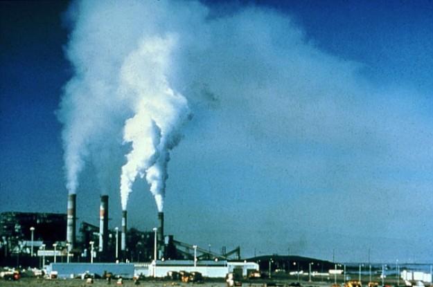 Baseload power plant. National Park Service photo. Public domain. Wikimedia Commons.