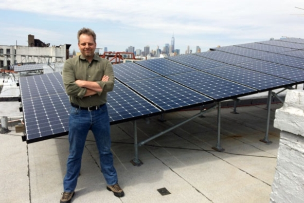 Lawrence Orsini, founder the company installing the Brooklyn Microgrid project. Credit: Image courtesy of Sasha Santiago