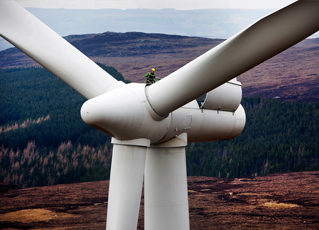The Farr wind farm in Scotland (Siemens photo)