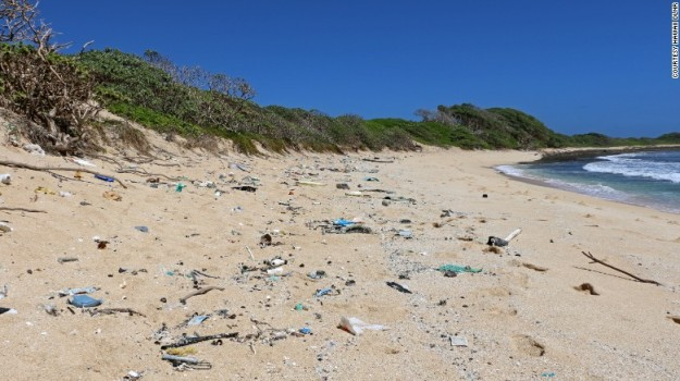 Hawaii's shorelines are littered with marine debris, mostly carelessly discarded plastic from other parts of the world.
