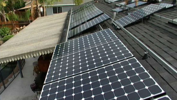 Solar panels during installation on a San Diego home. Courtesy San Diego County News Center