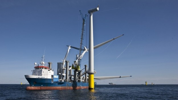 Low cost steel and favourable regulations are helping to cut offshore wind power costs (Pic: DONG Energy A/S)