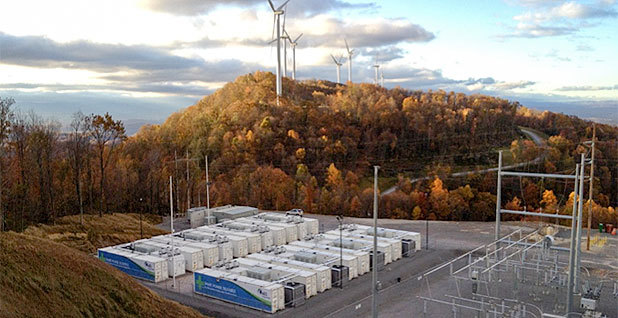 AES Corp.'s Laurel Mountain battery complex in West Virginia. Photo courtesy of AES.