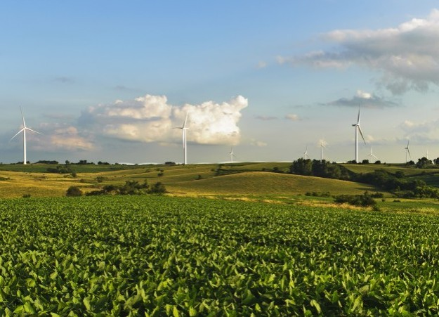 Wind farm. Siemens photo.