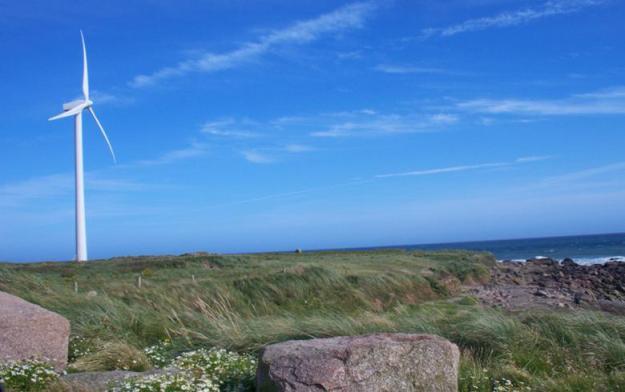 Wind turbine near the coast, Ireland. Author: Harry Pears. License: Creative Commons, Attribution-ShareAlike 2.0 Generic
