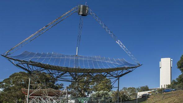 The ANU solar thermal dish. Image: Stuart Hay, ANU