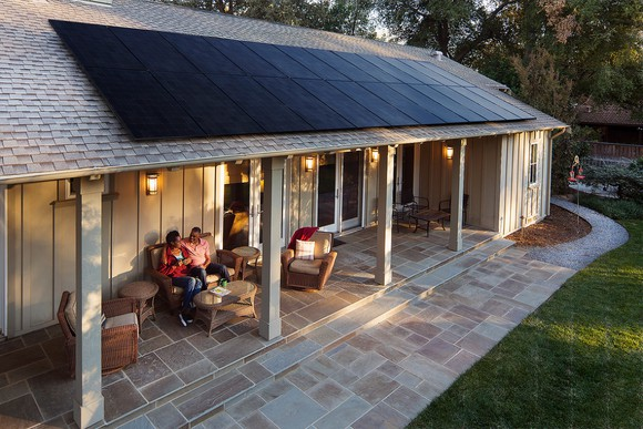 Total is investing in SunPower. SunPower image.