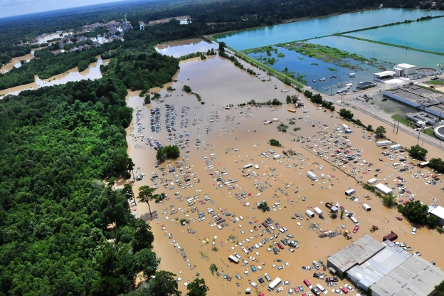 Flooding and devastation in Baton Rouge, 15 August 2016. Credit: Melissa Leake/US Department of Agriculture.