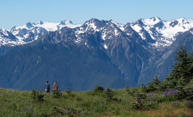 Hikers in Olympic National Park in Washington. (Ralph Arvesen/Flickr)