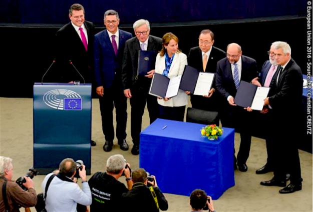European Union ratifies the Paris Agreement, making it international law (audiovisual.europar.europa.eu)