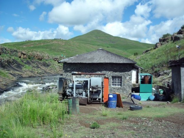 Remote African hydro facility