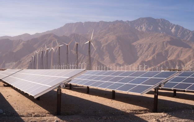 Desert wind and solar energy (iStock image)