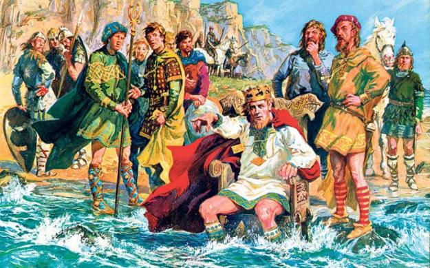 King Canute, trying to stop the tide – Nature has a way of ignoring our most ardent wishes.