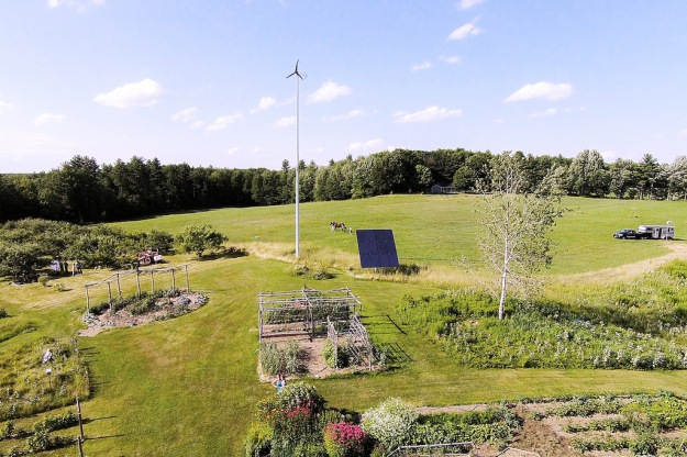 Pika Energy wind turbine on a farm in Maine (Pika Energy photo)