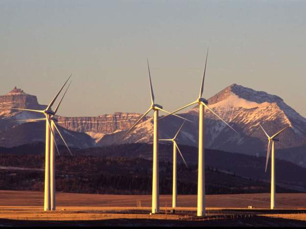 Alberta wind farm (Canadian Wind Energy Association photo)