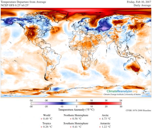 Arctic temperature anomalies