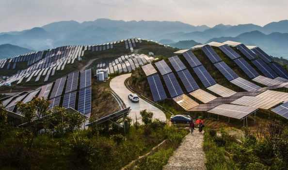 Solar PV panels in China's Fujian province (AP)